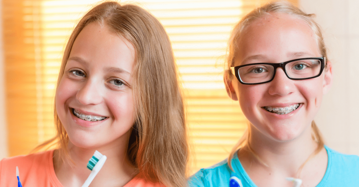 2 Young Girls with braces Advanced Orthodontics in Kent WA